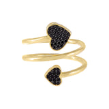 Pavé Heart Wrap Ring - Adina's Jewels