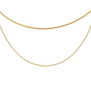 Gold Snake X Rope Chain Necklace Combo Set - Adina's Jewels