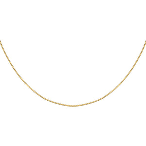 "Gold / 16"" Thin Box Chain Necklace - Adina's Jewels"