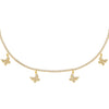 Gold Dangling Butterfly Tennis Choker - Adina's Jewels