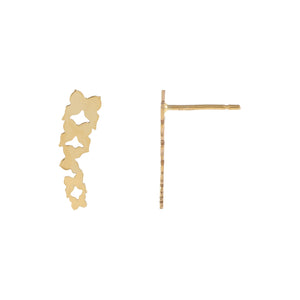 14K Gold Multi Butterfly Stud Earring 14K - Adina's Jewels