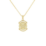 Gold Butterfly Coin Necklace - Adina's Jewels