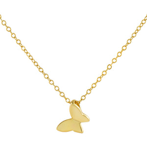 Gold Mini Solid Butterfly Necklace - Adina's Jewels