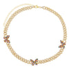 Pavé Rainbow Butterfly Chain Link Choker - Adina's Jewels