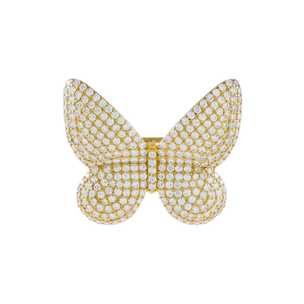 Pavé Large Butterfly Ring - Adina's Jewels
