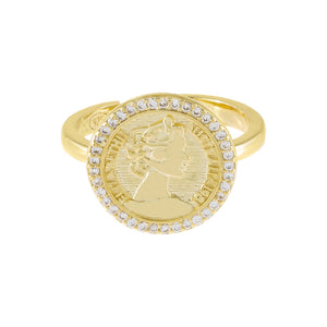 Pavé Coin Ring - Adina's Jewels