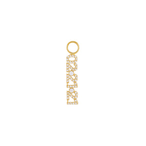 Gold Pavé Mini Date Charm - Adina's Jewels