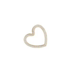 Gold Pavé Open Heart Charm - Adina's Jewels