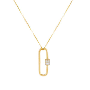 Gold Pavé Toggle Necklace - Adina's Jewels