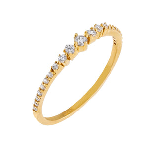 14K Gold / 5 Thin CZ Multi Stone Ring 14K - Adina's Jewels