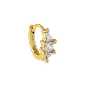 Gold CZ Mini Cartilage Huggie Earring - Adina's Jewels
