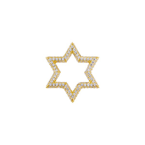 Gold Pavé Open Starburst Charm - Adina's Jewels