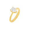 Gold / 6 CZ Dainty Teardrop Ring - Adina's Jewels