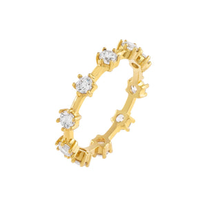 Gold / 6 CZ Colored Multi Stone Ring - Adina's Jewels