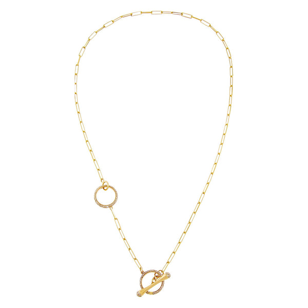 Diamond Toggle Link Lariat 14K - Adina's Jewels