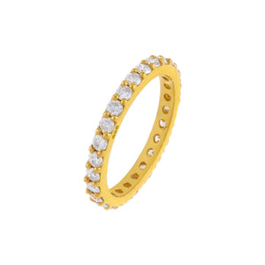 Diamond Thin Eternity Band 14K