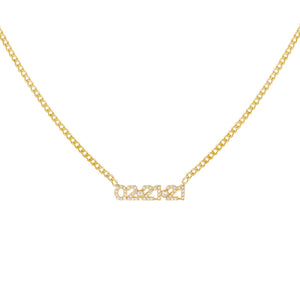 Gold Pavé Date Necklace - Adina's Jewels