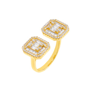 Gold CZ Colored Illusion Ring - Adina's Jewels