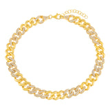 Gold Pavé Chain Link Anklet - Adina's Jewels