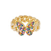 Pavé Rainbow Butterfly Chain Link Ring - Adina's Jewels