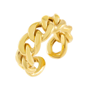 Gold Chunky Cuban Chain Ring - Adina's Jewels