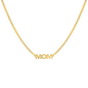 Gold Mom Nameplate Necklace - Adina's Jewels