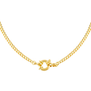 Gold Flat Cuban Toggle Chain Necklace - Adina's Jewels