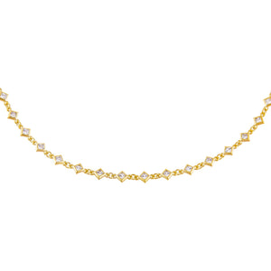 CZ Mini Diamond Shape Choker