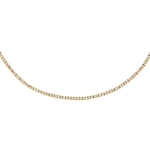 14K Gold Diamond Thin Tennis Necklace 14K - Adina's Jewels