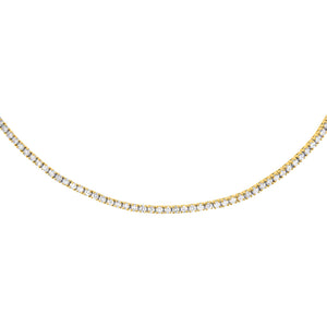 14K Gold Diamond Tennis Choker 14K - Adina's Jewels