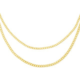 Gold Double Chain Cuban Necklace - Adina's Jewels