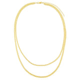 Double Chain Cuban Necklace - Adina's Jewels