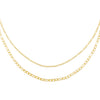 Gold Double Chain Figaro Necklace - Adina's Jewels