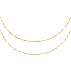 Gold Baby Figaro Chain Necklace Combo Set - Adina's Jewels