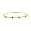 Emerald Green CZ Colored Solitaire Bangle - Adina's Jewels