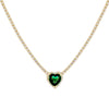 Emerald Green CZ Colored Heart Tennis Necklace - Adina's Jewels