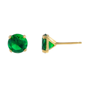 Colored Stone Stud Earring - Adina's Jewels