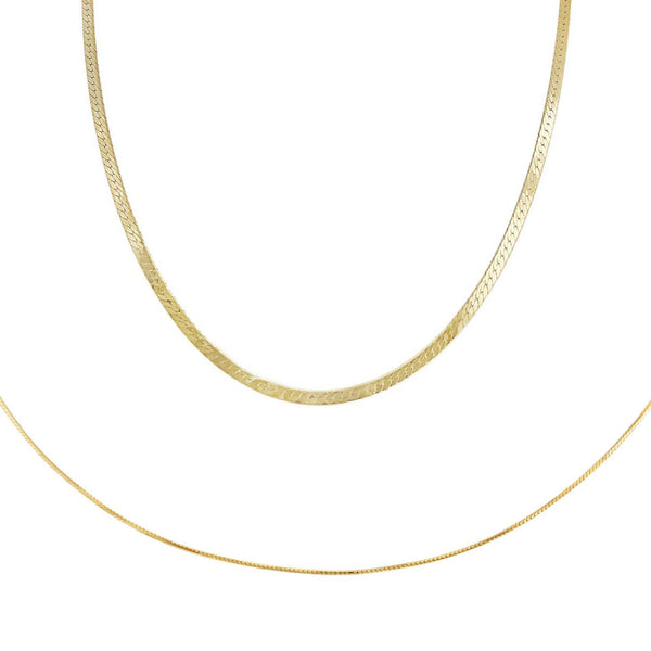 Gold Snake Chain Combo Set - Adina's Jewels