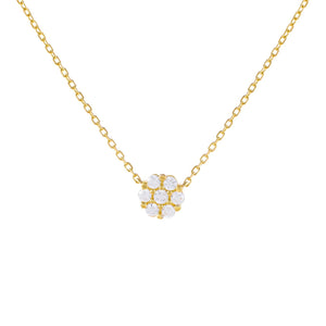Gold CZ Flower Necklace - Adina's Jewels