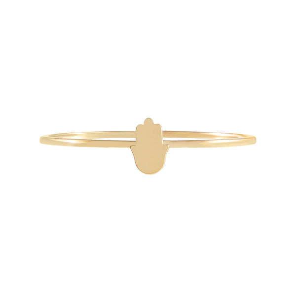 Mini Hamsa Ring 14K - Adina's Jewels