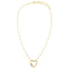 Baguette Heart Toggle Oval Link Necklace - Adina's Jewels