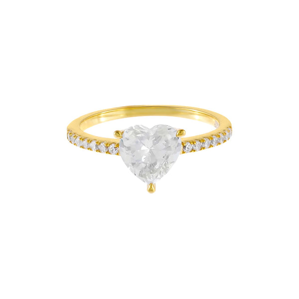 Pavé Heart Stone Ring - Adina's Jewels