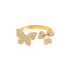 Pavé Butterfly X Clover Ring - Adina's Jewels