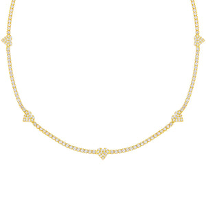 Gold CZ Multi Heart Tennis Choker - Adina's Jewels