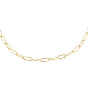 Gold Hexagon Link Choker - Adina's Jewels