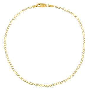 Gold Cuban Flat Anklet - Adina's Jewels