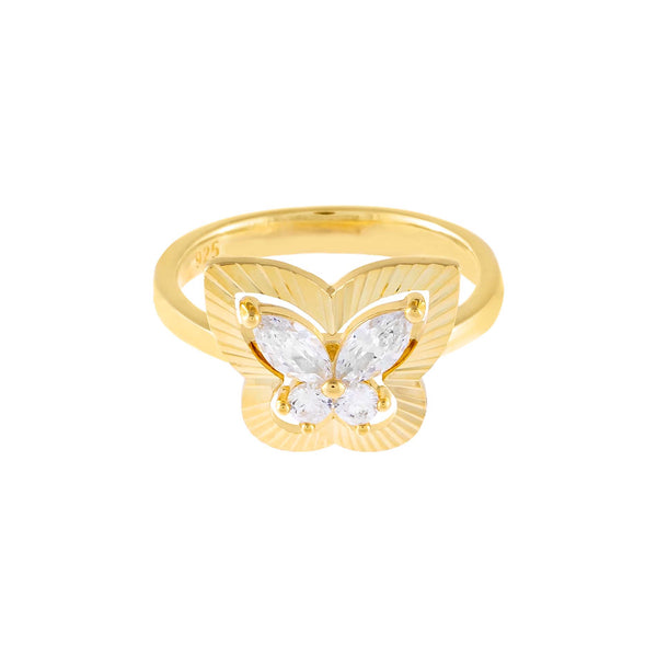 CZ Illusion Butterfly Ring - Adina's Jewels