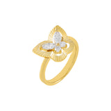 Gold / 6 CZ Illusion Butterfly Ring - Adina's Jewels