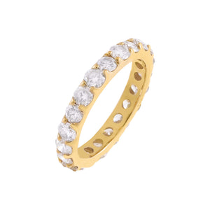 14K Gold / 5 Diamond Eternity Band 14K - Adina's Jewels