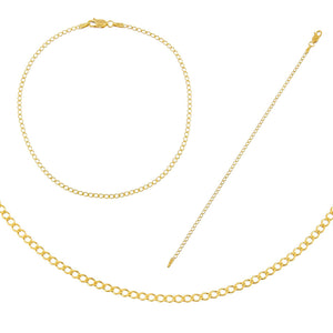 Gold The Cuban Chain Lover Holiday Gift Combo Set - Adina's Jewels